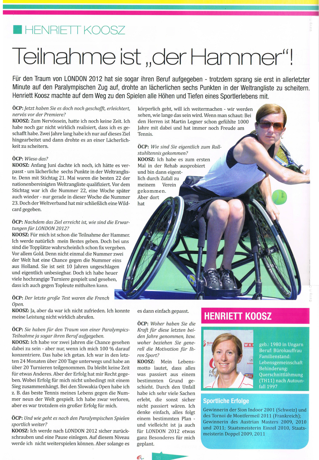 Paralympic-News August 2012